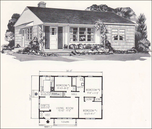 Thanks to Mid Century Home Style for serving up old plans!